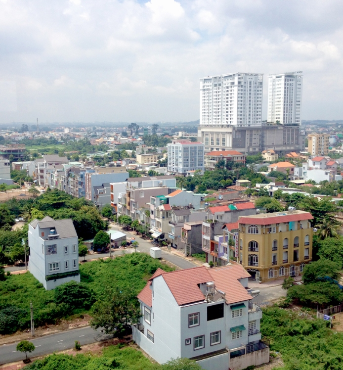 Bien Hoa City view from the 12th floor of Amber Court Apartments, one of the best dwellings in town, and my home in Viet Nam.