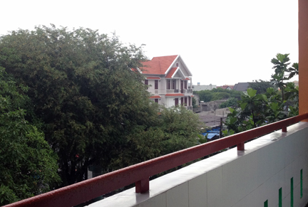 KTV English School 3rd floor, view from the railing, facing the city of Bien Hoa.